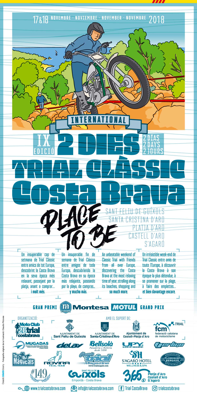 Cartell 2D TRIAL COSTA BRAVA 2018